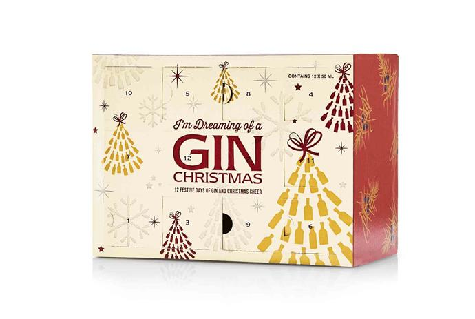 The 12 gins of Christmas **gift pack**, $59.99.