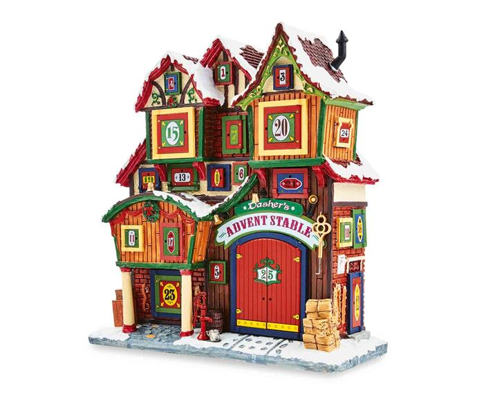 Lemax Christmas **façade scenes**, $59.99.