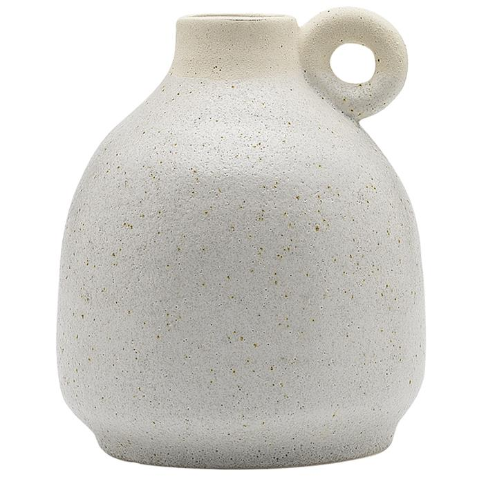 "Clay Handle Ceramic Vase, $19.95, [Temple & Webster](https://www.templeandwebster.com.au/14cm-Clay-Handle-Ceramic-Vase-EC18122-ELGY1532.html|target=""_blank""