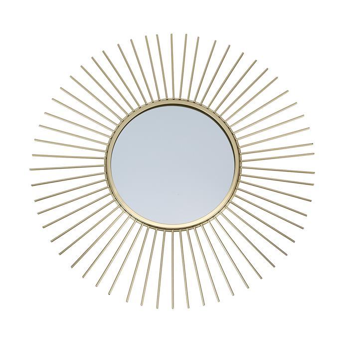 "Starburst Mirror, $15, [Kmart](https://www.kmart.com.au/product/starburst-mirror/2561870|target=""_blank""|rel=""nofollow"")"