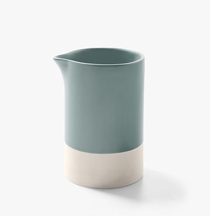 "Kali medium jug, $39.95, from [Aura Home](https://www.aurahome.com.au/kali-medium-jug-mist|target=""_blank""|rel=""nofollow"")"