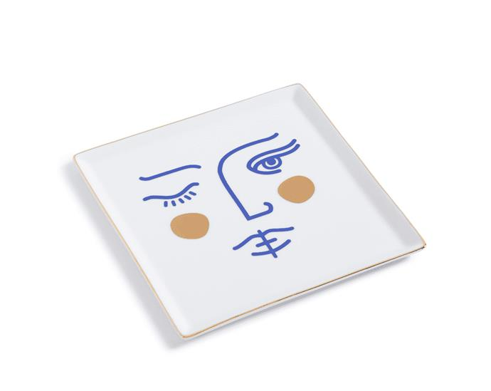 "Octaevo Janus Goddess ceramic tray, $49.95, from [Milligram](https://milligram.com/octaevo-ceramic-tray-janus-goddess/|target=""_blank""|rel=""nofollow"")"