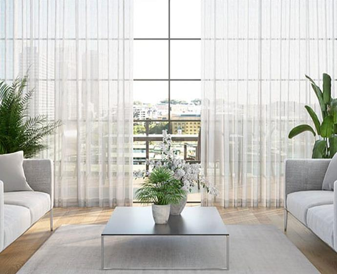 Sheer curtains are having a moment right now, adding softness to a space. They can also be installed over existing blinds and curtains.