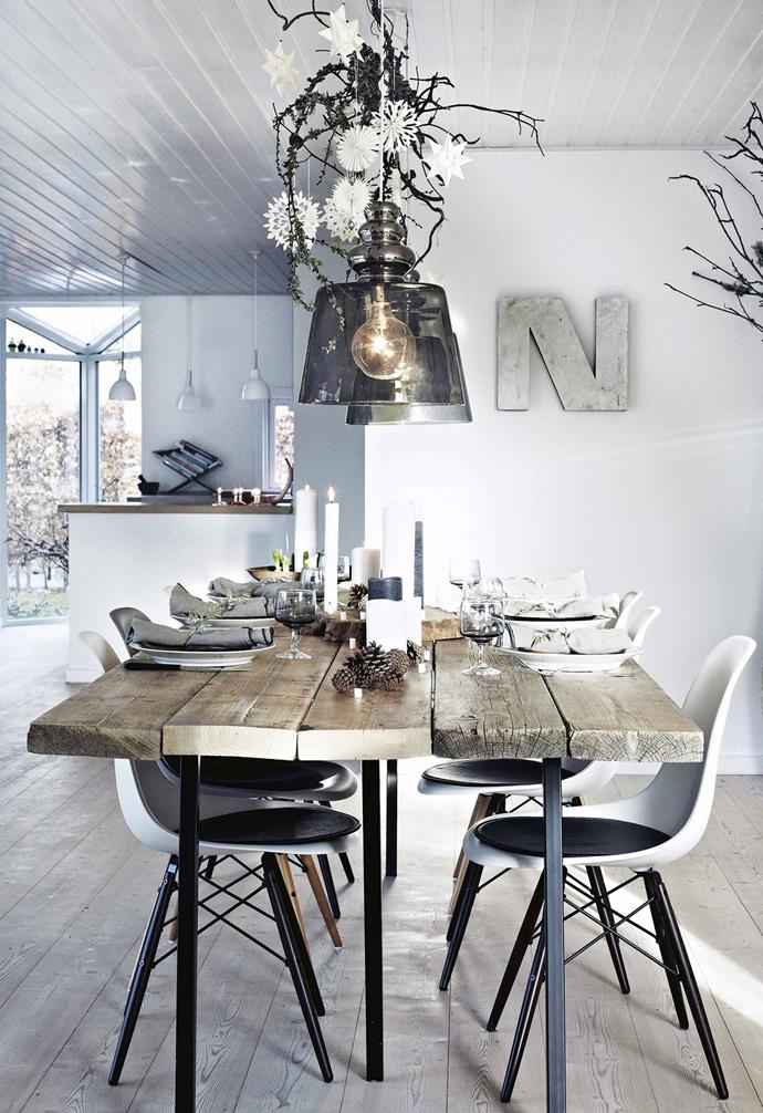 """The [dining table](https://www.homestolove.com.au/10-of-the-best-dining-tables-13249