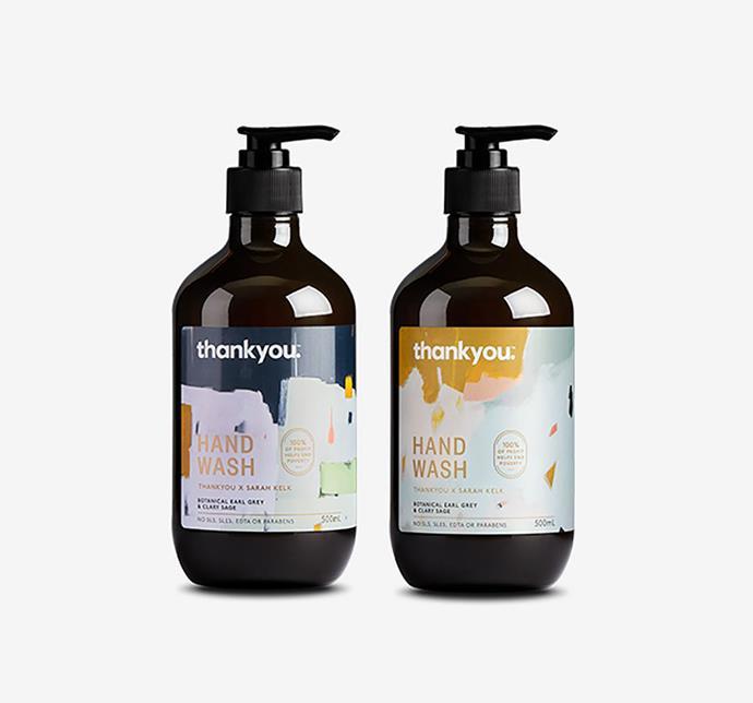 "Thankyou x Sarah Kelk handwash collection pack, $16, from [Thankyou](https://thankyou.co/products/sarah-kelk-hand-wash-collection-pack|target=""_blank""|rel=""nofollow"")"