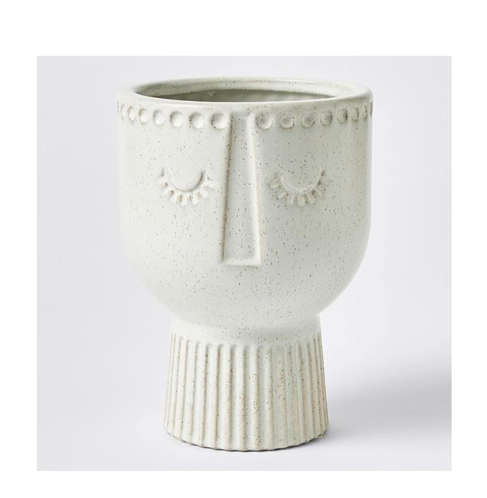 "Medium Adina face planter pot, $25, from [Target](https://www.target.com.au/p/medium-adina-face-planter-pot/62808293?utm_term=62808293&utm_content=medium-adina-face-planter-pot&utm_source=google&utm_medium=merchant-site&utm_campaign=merchant-site&gclid=CjwKCAiAzanuBRAZEiwA5yf4ui5GHGT9I0dfe4o49TqLOth9TokVQKyftpYkSa3d-1mKMhCTyh7yARoCcWcQAvD_BwE&gclsrc=aw.ds|target=""_blank""|rel=""nofollow"")"