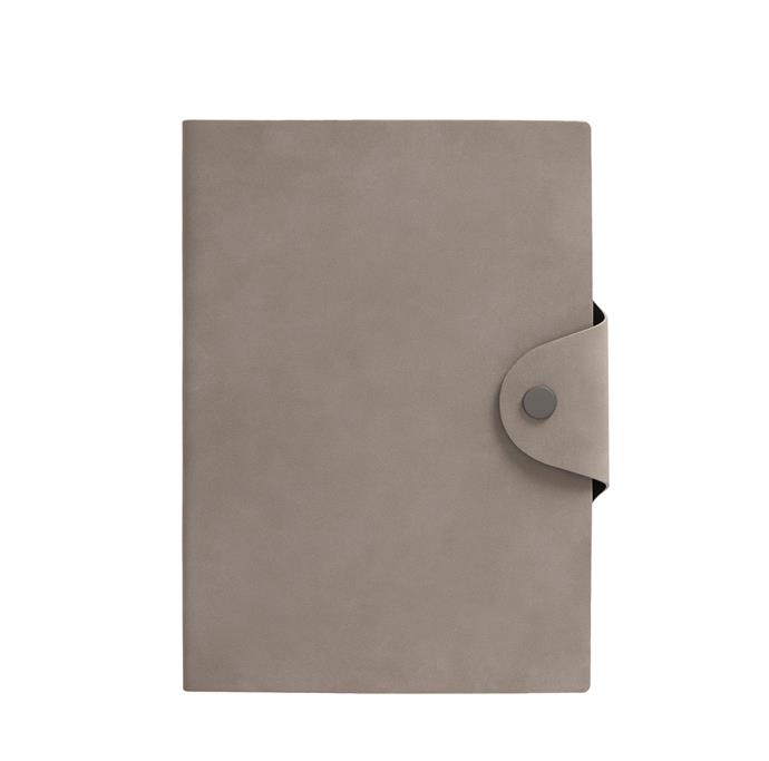 "A5 Ssnap journal in mist grey, $19.99, from [Kikki K](https://www.kikki-k.com/au/notebooks/a5-snap-journal-mist-grey-essentials-11279003.html?cgid=notebooks|target=""_blank""|rel=""nofollow"")"