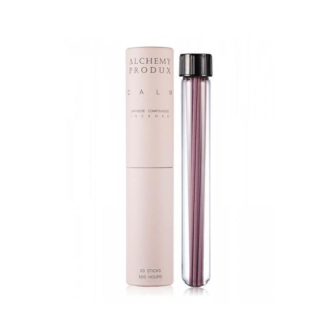 "Alchemy Produx calm Pink Incense Stick, $20, from [DesignStuff](https://www.designstuff.com.au/alchemy-produx-20-incense-sticks-calm-pink/|target=""_blank""|rel=""nofollow"")"