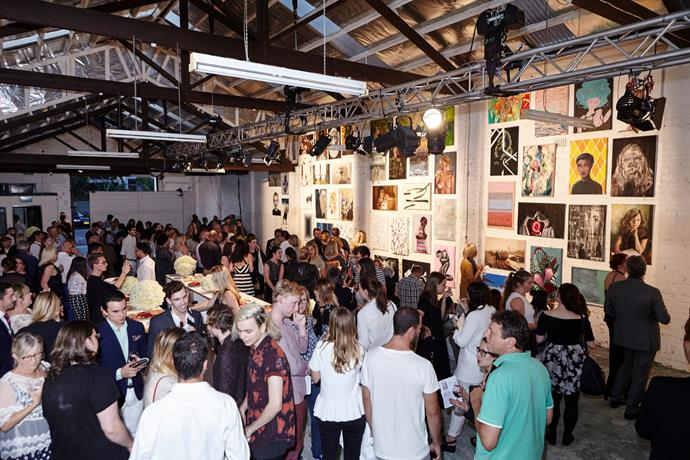 The inagural ArtStart exhibition was held in Alexandria, Sydney. Photograph by Lauren Trompp.