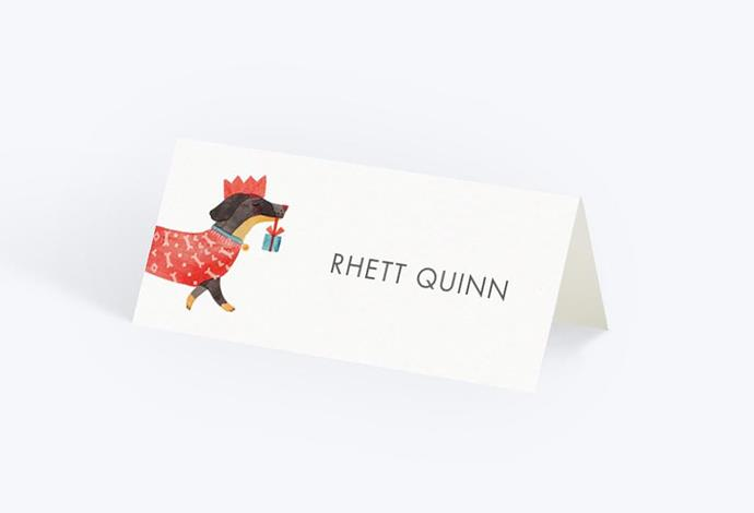 "Christmas dachshund place cards, $40.20/set of 20, from [Papier](https://whttps://www.papier.com/au/christmas-dachshund-19666?gclid=CjwKCAiA8K7uBRBBEiwACOm4d8_zQmt1T2EVr2cJqbH4CmbQfJG_p_K0pUe3RT5sy0wWLGqFlWPXORoCcLUQAvD_BwE|target=""_blank""