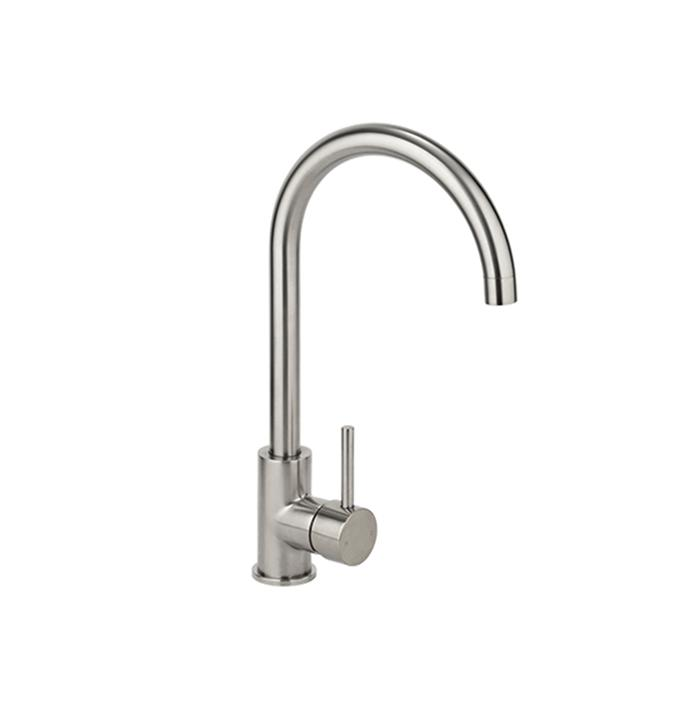 "Elysian Kitchen Mixer in Brushed Nickel, $179, [ABI Interiors](https://www.abiinteriors.com.au/shop/kitchen-tapware/elysian-kitchen-mixer-brushed-nickel/|target=""_blank""