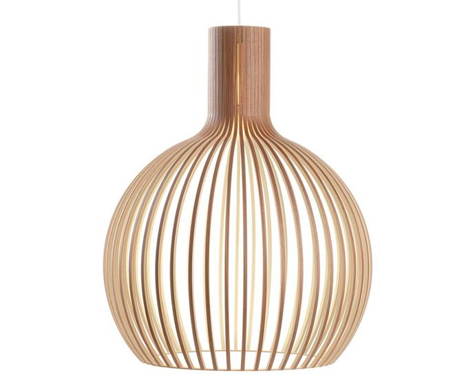 "Octo pendant light, $1182 from [Finnish Design Shop](https://www.finnishdesignshop.com/lighting-ceiling-lamps-pendant-lamps-octo-4240-pendant-walnut-p-9890.html|target=""_blank""