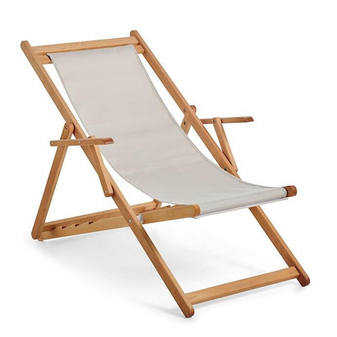 "Beppi Sling Chair in Raw, $349, [Basil Bangs](https://basilbangs.com/au/product/beppi-sling-chair-raw/|target=""_blank""|rel=""nofollow"")"