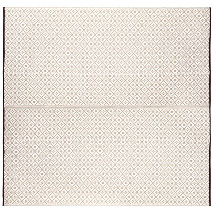 "Beige 'Kimberley' Reversible outdoor rug, $129, [Temple & Webster](https://www.templeandwebster.com.au/Beige-Kimberley-Reversible-Outdoor-Rug-PLRKIMBEI270270-FABA1444.html|target=""_blank""|rel=""nofollow"")"