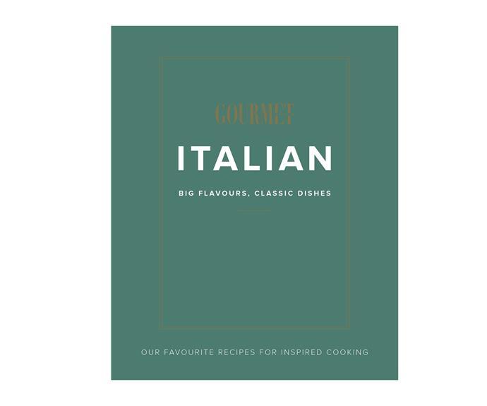 "Gourmet Traveller *Italian* cookbook, $59.99, [Magshop](https://www.magshop.com.au/australian-gourmet-traveller-italian|target=""_blank""|rel=""nofollow"")"
