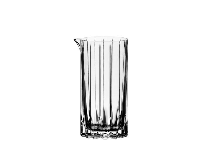 "Mixing Glass, $79.95, [Riedel](https://www.riedel.com/en-au/shop/riedel-bar/drink-specific-glassware-mixing-glass-641700023|target=""_blank""