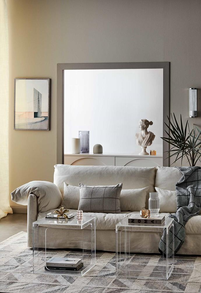 "The retro revival has seen neutral and beige palettes coming back into our homes, as seen in this striking [living room space](https://www.homestolove.com.au/living-room-trends-2019-20181|target=""_blank"")."