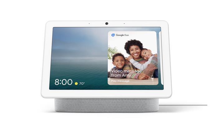 "Google nest hub max, $349, from [Google](https://store.google.com/au/product/google_nest_hub_max|target=""_blank""|rel=""nofollow"")"