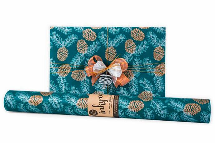 """Pine Cones - green, $16/roll, [Inky Co](https://www.inkyco.com.au/pine-cones-green-icw.html target=""""_blank"""" rel=""""nofollow"""")."""
