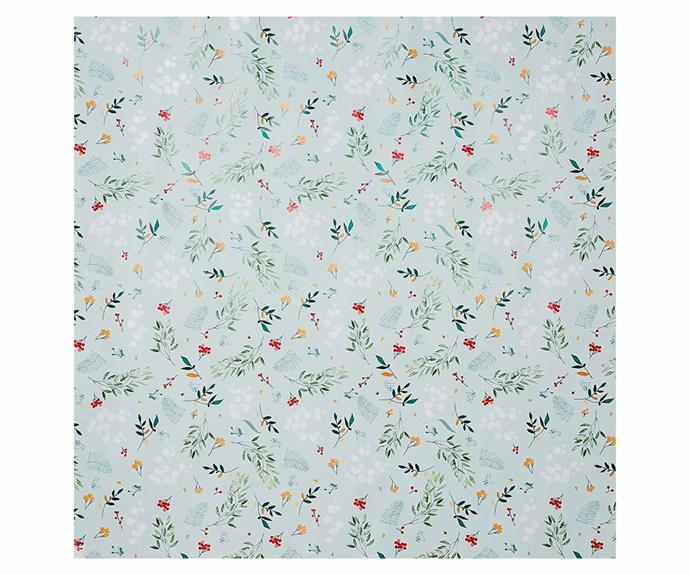 "Botanical Christmas Wrapping Paper, $14.99/pack of 2, [Adairs](https://www.adairs.com.au/homewares/christmas/adairs/botanical-christmas-wrapping-paper-pack-of-2/|target=""_blank""
