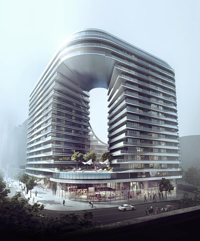 Artist's concept of Koichi's design for the Infinity by Crown Group development in Sydney.
