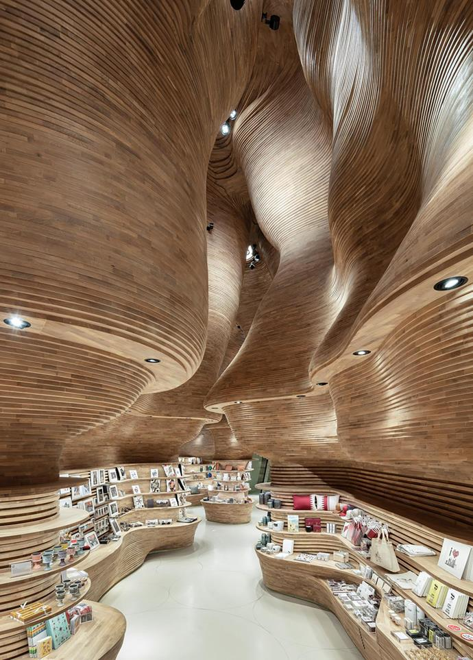 One of the gift shops Koichi conceived for the National Museum of Qatar.