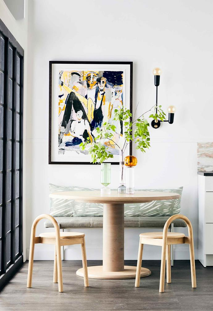 "A statement artwork can help [accentuate the sense of space](https://www.homestolove.com.au/small-room-decor-19568|target=""_blank"") in a small area, as well as naturally draw the eye upwards."