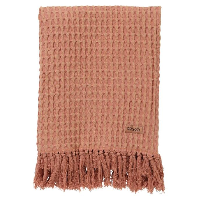 "Muted Clay Waffle Bath Towel, $49, [Kip & Co](https://kipandco.com.au/collections/shop-all/products/muted-clay-waffle-bath-towel|target=""_blank""