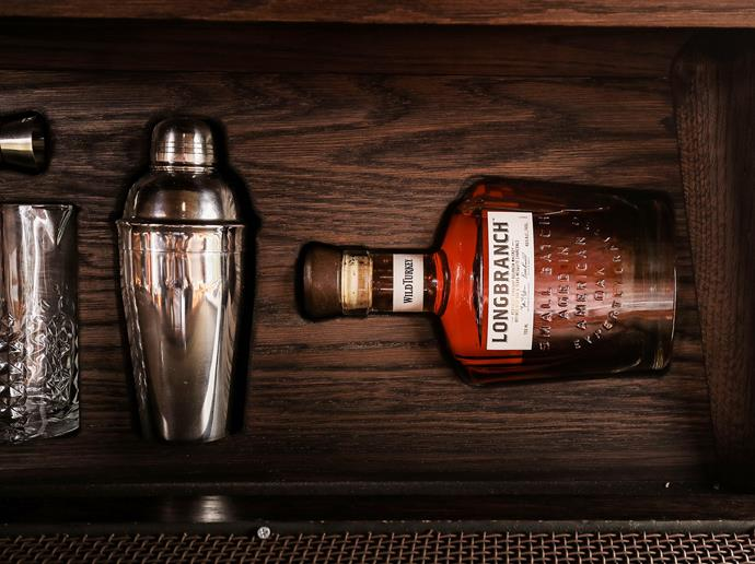 Wild Turkey Bourbon is on offer for guests to imbibe on.