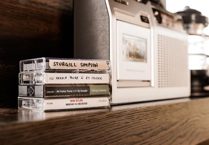 McConaughey also ensured he could share his love of American country and folk music by selecting a range of his favourite tapes to be enjoyed on the cabin's vintage cassette stereo.
