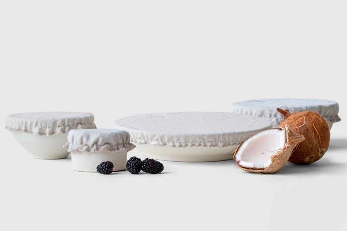 "Orez bowl covers, $34 USD/set of 4, [Marie Kondo](https://shop.konmari.com/collections/cooking-kitchen/products/konmari-kitchen-orez-bowl-covers target=""_blank"" rel=""nofollow"")."