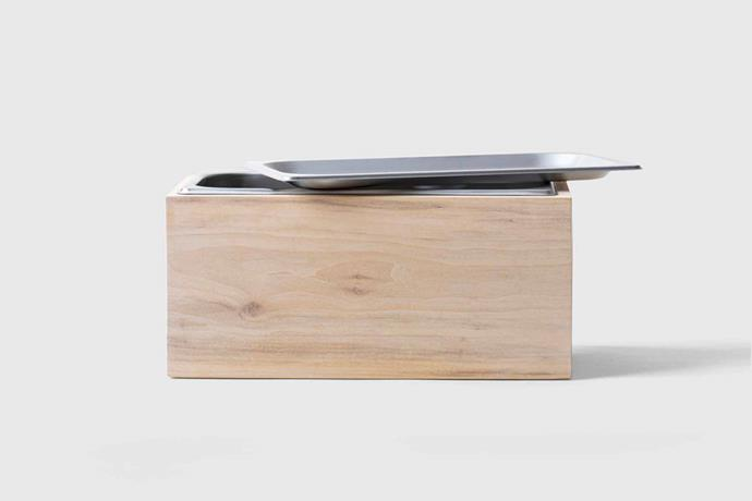 "Alabama Sawyer countertop compost bin, $175 USD, [Marie Kondo](https://shop.konmari.com/collections/cooking-kitchen/products/konmari-kitchen-alabama-sawyer-countertop-compost-bin target=""_blank"" rel=""nofollow"")."