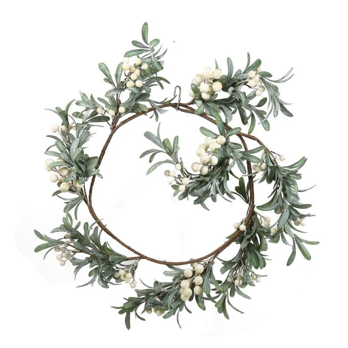 """White Berry Christmas garland, $99, from [Temple & Webster](https://www.templeandwebster.com.au/30cm-White-Berry-Christmas-Garland-FVV19CLJ800-VNVT1006.html?rec_imp=adb354748afdf39126add7c73f70b42d&rec_src=recombee