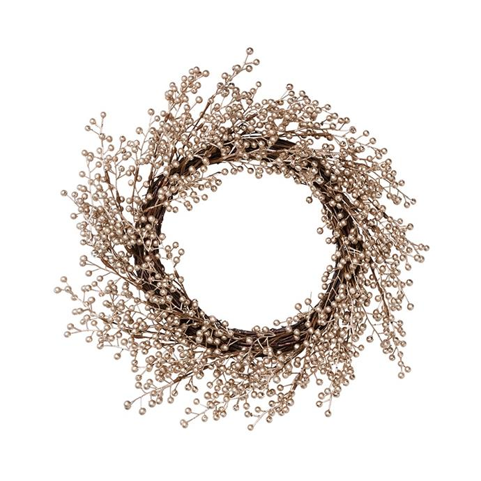 "'Golden Berry' Collection gold wreath, $49.99, from [Adairs](https://www.adairs.com.au/homewares/christmas/adairs/golden-berry-collection-gold-wreath/|target=""_blank""