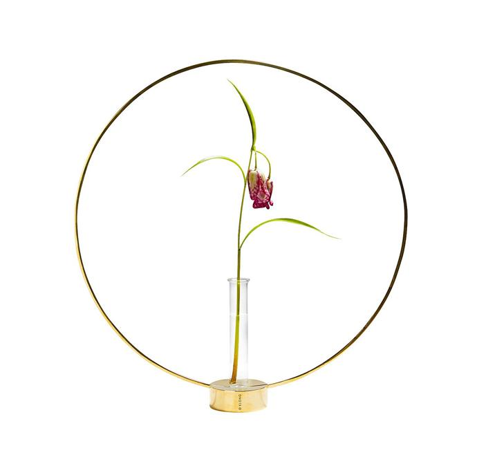 "Gloria brass ring candle holder, priced from $275, from [Great Dane](https://greatdanefurniture.com/danish-accessories/living/gloria-brass-ring|target=""_blank""