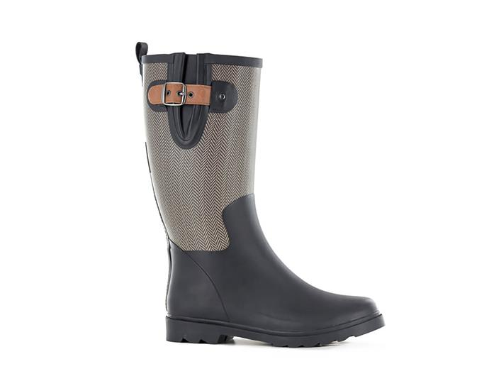 "Ambre gumboot, $112, from [Quality Products](https://qualityproducts.com.au/ambre-gumboot-14212-.htm|target=""_blank""