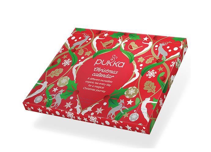 "Tea Christmas advent calendar, $22.95, from [Pukka](https://www.pukkaherbs.com.au/incredible-organic-teas/gifts/advent-calendar/|target=""_blank""|rel=""nofollow"")"