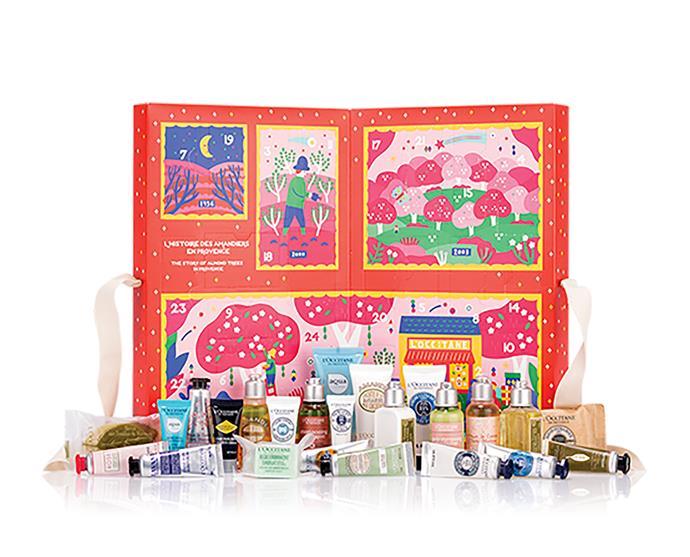 "Classic beauty advent calendar, $79, from [L'Occitane](https://au.loccitane.com/classic-beauty-advent-calendar,23,1,97128,1424197.htm#s=96749|target=""_blank""|rel=""nofollow"")"