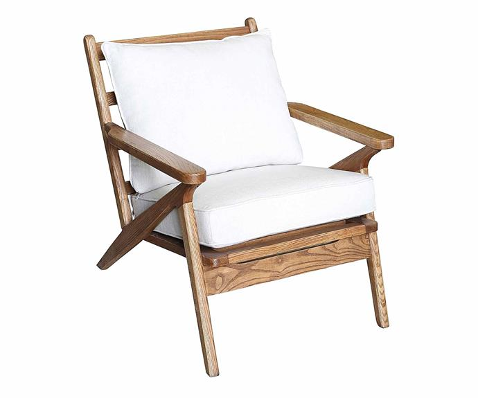 """**Oneworld Collection Gana Armchair, $468.30 (originally $669), [Zanui](https://www.zanui.com.au/Gana-Armchair-163872.html