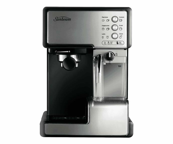 """**Sunbeam EM5000 cafe barista coffee machine in stainless steel, $146.64 (originally $195.52), [Amazon](https://www.amazon.com.au/Sunbeam-EM5000-Barista-Machine-Stainless/dp/B007K9OIMU/ref=sr_1_5?qid=1574642659&refinements=p_89%3ASunbeam&s=home&sr=1-5