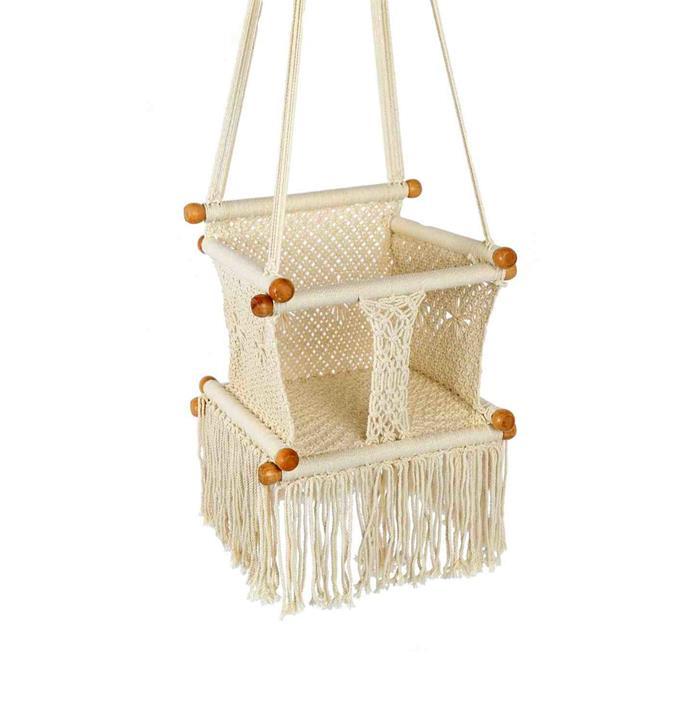 "Child Crochet Swing, $149, [Temple & Webster](https://www.templeandwebster.com.au/The-Toucan-Shop-Child-Crochet-Swing-BC-Swing-BHET1008.html|target=""_blank""|rel=""nofollow"")"