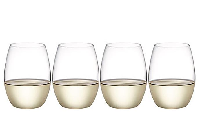 "Outdoors stemless WHITE+ glasses, $34.95/ retail 4 pack, from [Plumm](https://www.plumm.com/plumm/outdoors-polycarbonate-wine-glasses/Plumm-Outdoors-Stemless-White-4-packs-per-carton-PLUOTPG5520/|target=""_blank""