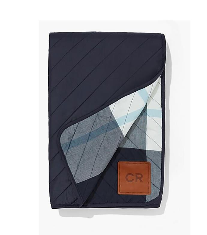 "Oda small picnic blanket, $149, from [Country Road](https://www.countryroad.com.au/shop/home/outdoor/60245313-4045/Oda-Small-Picnic-Blanket.html/|target=""_blank""