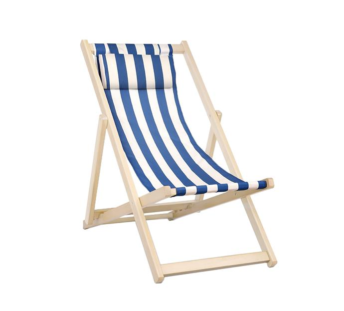 "Foldable stripes beach sling chair, $69.95, from [Temple & Webster](https://www.templeandwebster.com.au/Foldable-Stripes-Beach-Sling-Chair-ILIF4471.html?refid=GPAAU447-ILIF4471&device=c&ptid=743116086713&gclid=CjwKCAiAlO7uBRANEiwA_vXQ-4OEeMFnSAKJpaDZm23YW9nWDWURaw5lLEJpgDC-aJRINxW7oRW0FxoCf28QAvD_BwE/|target=""_blank""
