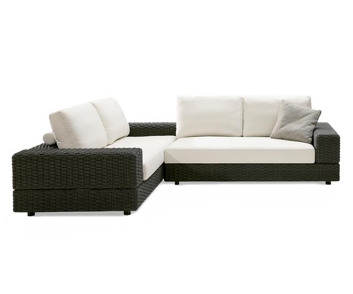 """This luxury outdoor furniture set can be easily rearranged into different setting options to suit your entertaining needs and mood. Available in a range of durable WeatherWeave™ finishes and premium fabrics, the covers are easy to clean and highly weather resistant.  Jasper outdoor setting, POA, [King Living](https://www.kingliving.com.au/furniture/outdoor-furniture/jasper-outdoor