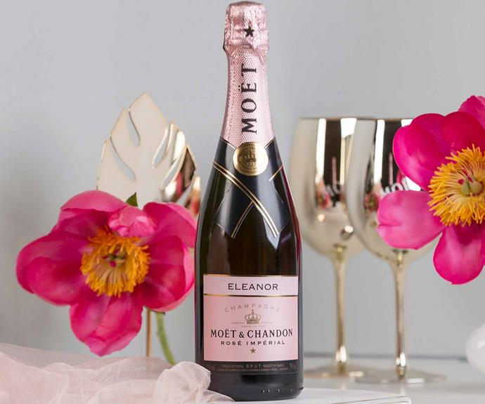"""Moet & Chandon Imperial Rose, $89.99, [Myer Giftorium](https://www.myer.com.au/b/Myer%20Giftorium