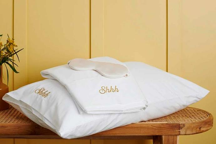 """600TC cotton Egyptian blend pillowcase pair, $59.95 (without personalisation), [Sheridan](https://www.sheridan.com.au/christmas-gift-ideas.html#personalised-gifts