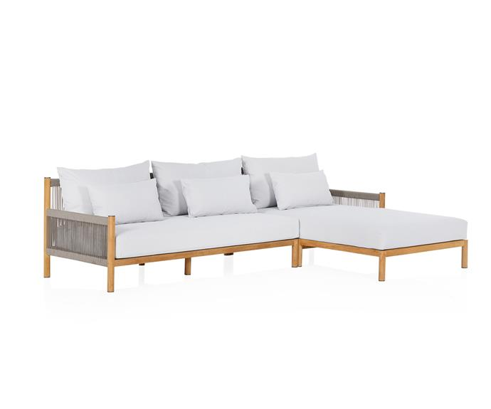 """This stylish outdoor lounge setting looks like the perfect place to kick back and pretend your living your best life in a luxury resort - cocktail in hand, of course.  Architect 2-seat outdoor modular sofa, $3595, [Coco Republic](https://www.cocorepublic.com.au/catalog/product/view/id/10492/s/architect-outdoor-modular-sofa-10492/
