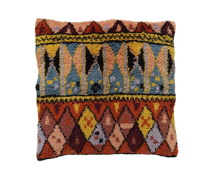 "'Dweller' Wool Shag floor cushion, $199, [Kip & Co](https://kipandco.com.au/products/dweller-wool-shag-floor-cushion|target=""_blank""