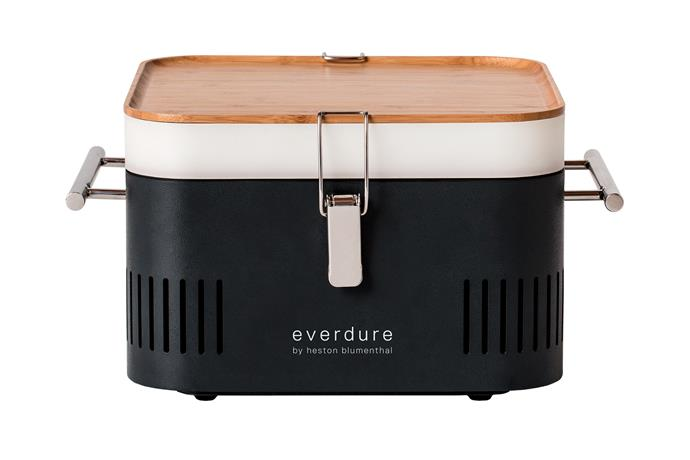 "Everdure by Heston Blumenthal 'Cube' barbecue in Graphite, $199, [Shriro](https://www.shriro.com.au/|target=""_blank""